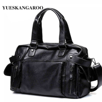 YUES KANGAROO Brand Men S High Quality Leather Handbag Casual Male Travel Laptop Bags Vintage Shoulder
