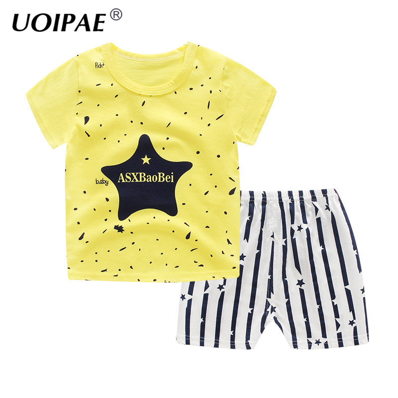 Baby Boys Clothes 2018 Summer Cotton Casual Short Sleeve T-shirt+Shorts 2Pcs Outfit Boys Tops Toddler Kids Clothing Sets JTX03 t shirt tops cotton denim pants 2pcs clothes sets newborn toddler kid infant baby boy clothes outfit set au 2016 new boys
