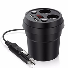 New USB Car-Charger Dual 3.1A Quick Charging USB Car Charger with 2-Socket Cigarette Lighter for iphone Samsung Smartphone цена