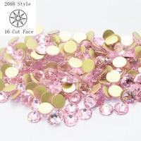 Non hotfix Rhinestone Crystal Flatback Pink Strass Glitter 3D Nail Art Crystals 1440pcs/Lot ss20 Light Rose SWA Rhinestones