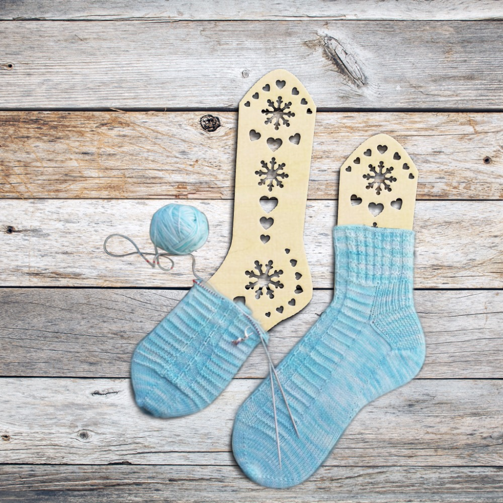 2pcs Wooden Cute Sheep Sock Blockers Wood Socks Form Handmade Sock ...