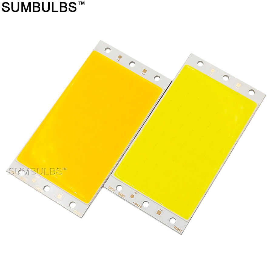 94x50MM 15W COB LED Licht Streifen Lampe Modul DC 12V 1600LM Ultral Helle Warme Kühlen weiß Blau cob Chip On Board Matrix Led-lampe