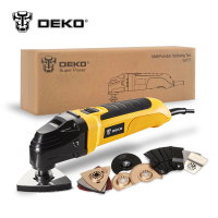 DEKO 220V Variable Speed Electric Multifunction Oscillating Tool Kit Multi Tool Power Tool Electric Trimmer Saw w/ Accessories