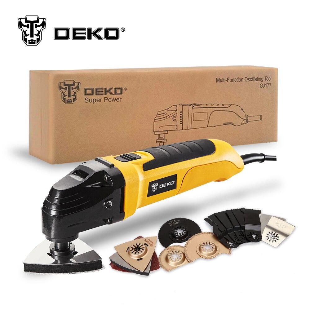 DEKO 220V vitesse Variable électrique multifonction Kit d'outils oscillants multi-outils outil électrique tondeuse électrique scie avec accessoires