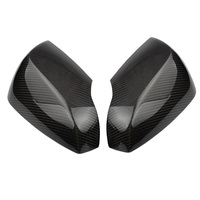 QHCP 1 пара углеродного волокна Chromeplate двери автомобиля сбоку Зеркало заднего вида Замена крышки для Subaru Forester Outback Наследие XV 2014 +