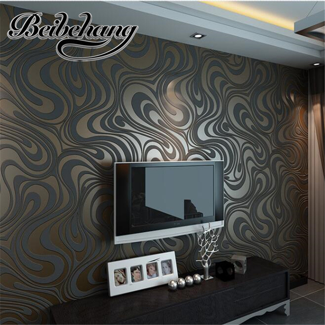 Beibehang Modern Luxury 3D Wallpaper Bedroom Living Room TV Backdrop  Wallpaper, Papel De Parede Flocking Part 45