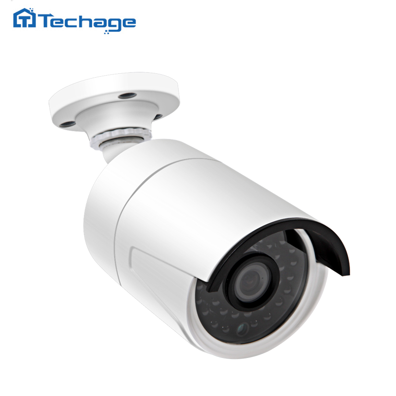 ФОТО Techage Mini H.265 CCTV 4.0MP 48V POE IP Camera 2592*1520 IR Outdoor ONVIF Waterproof H265 HD Video Security Surveillance Cam