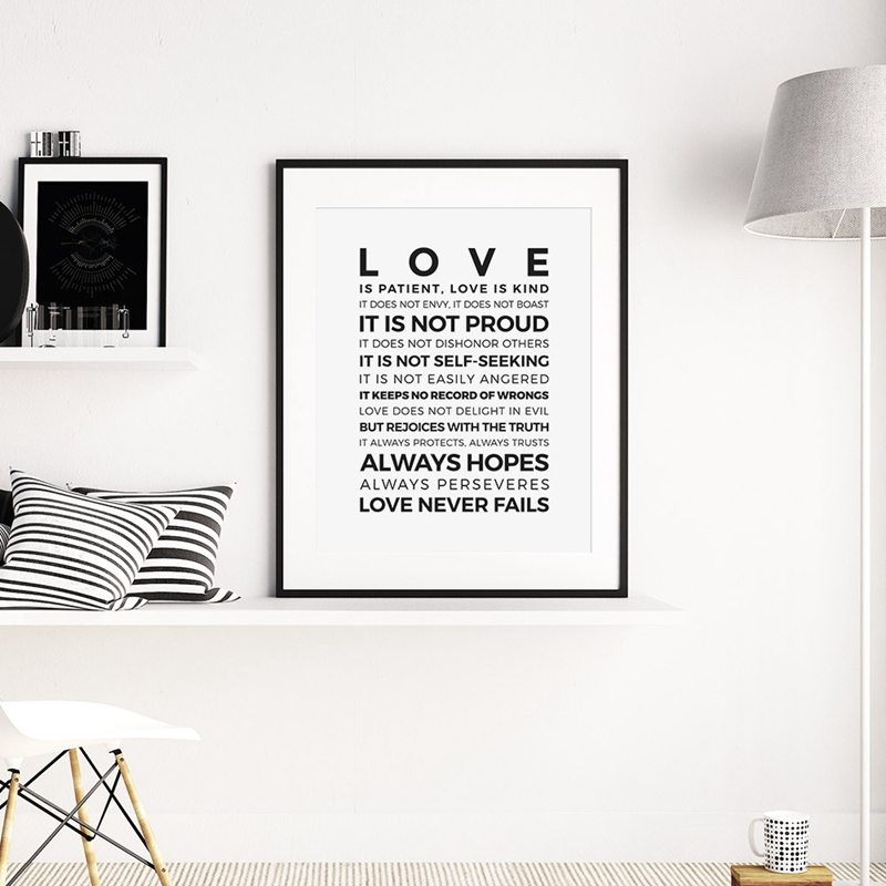 Love Is Patient Wall Art Aiwall Bible Verse Love Is Patient Kind Quote Wall Art Sticker Decal