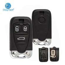 OkeyTech корпус автомобильного ключа дистанционного управления для Alfa Romeo 159 Brera 156 Spider 3 кнопочный корпус с вставным лезвием для Alfa Smart Брелок чехол