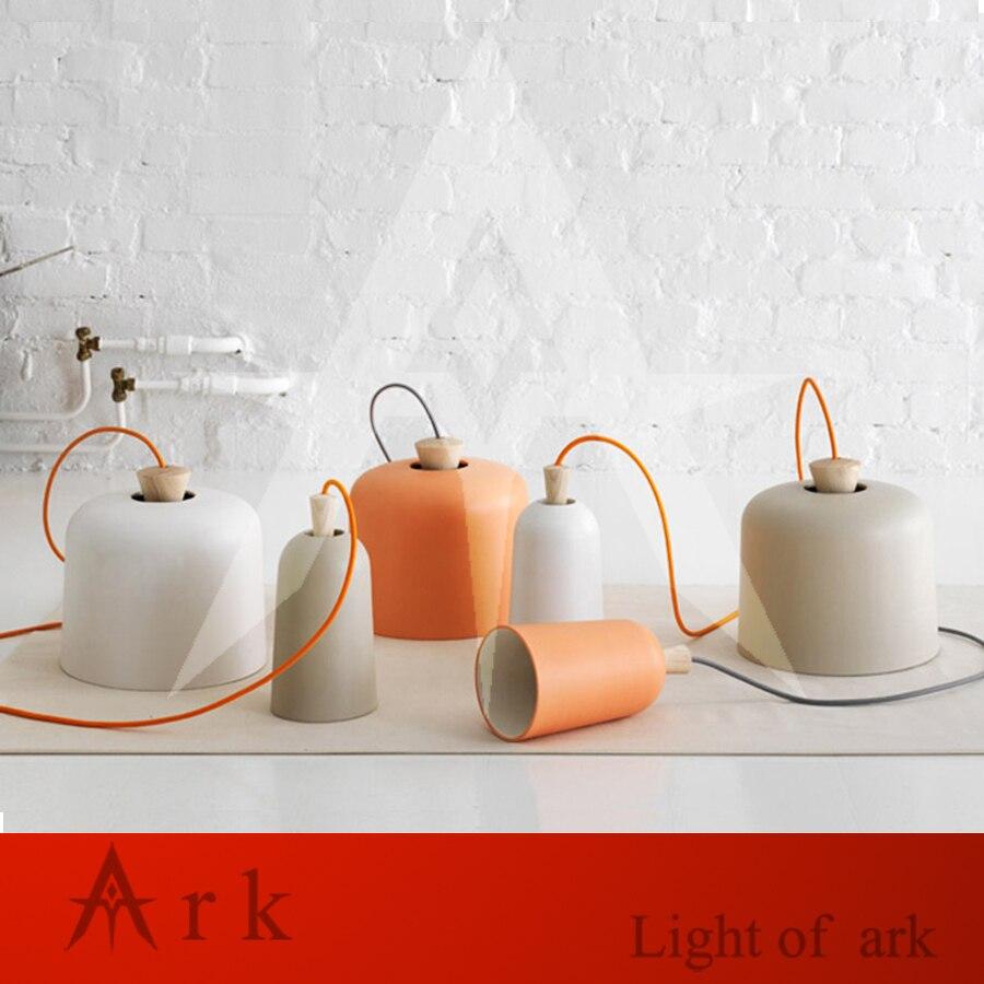 ФОТО Nordic Restaurant Pendant Light Creative Individuality Simple Wooden Top Aluminum lampshade Hats Pendant Lamp