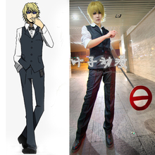 New Unisex Women/Men Heiwajima Shizuo Cosplay Anime Durarara Bartender Costume Full Set Shirt+Vest+Tie+Pants