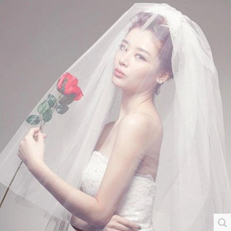 Hochzeit schleier 2018 Koreanischen stil Stern stil braut brautkleid ...
