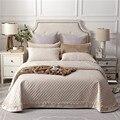 Beige púrpura verde de lujo de estilo europeo de lana de tela colcha fundas de almohada sábana de cama manta 245X245 cm 3 piezas