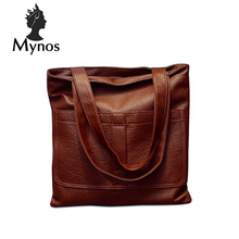 Mynos bolso de cuero famoso diseñador de lujo de la vendimia mujeres bolsa de asas de hombro messenger bag ladies bolsas feminina sac a principal