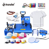 i transfer Package Sale 29 *38CM Round edge 6 in 1 Combo Heat Press Transfer/Sublimation Machine for Cups,Hat,Plates HPM01A6