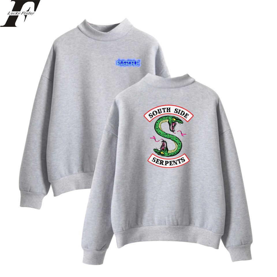 LUCKYFRIDAYF Kpop Riverdale Hit TV Plays Oversize Turtleneck Hoodies Sweatshirts Women/Men Hoodie Loose Casual Tracksuit Outwear