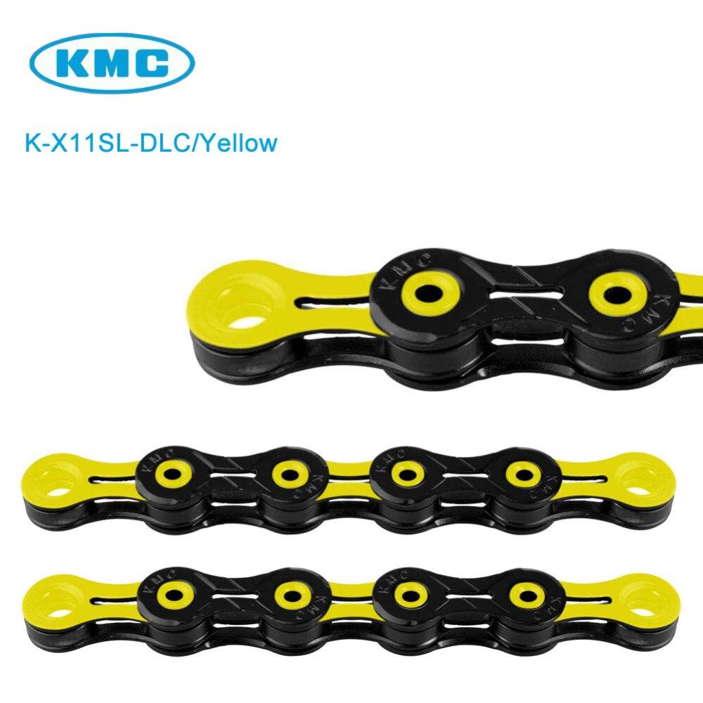 KMC X11SL Chain 116 Links DLC Black//Yellow 11-Speed