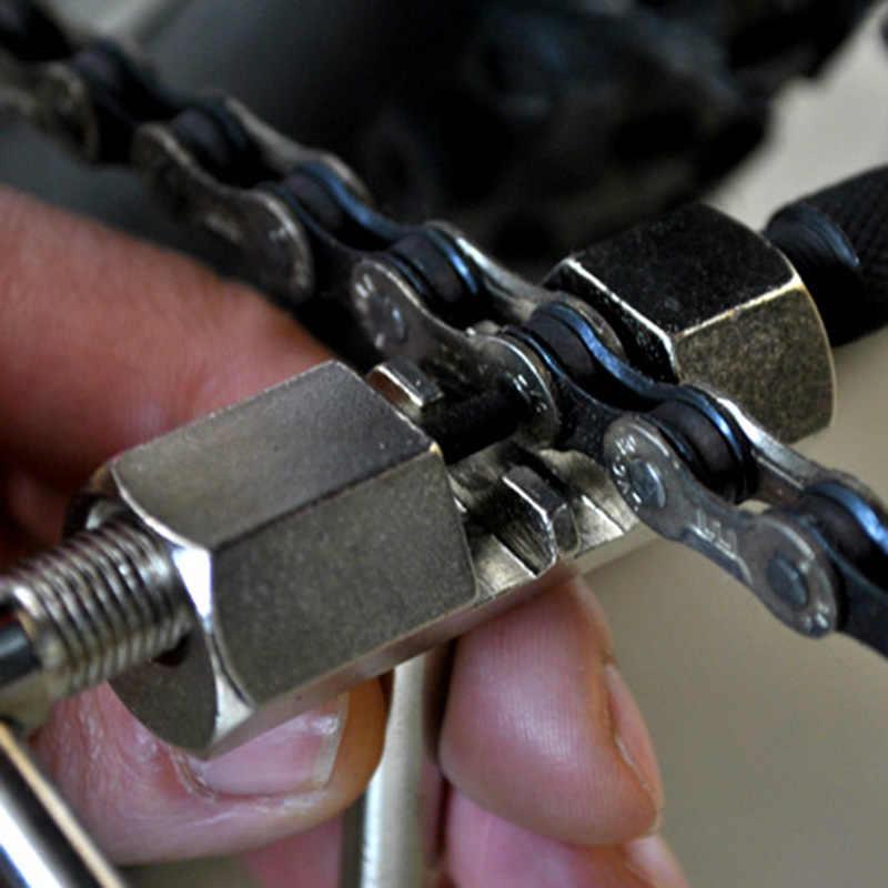 Outil de réparation de chaîne de démontage de chaîne de coupe de chaîne à double axe de VTT