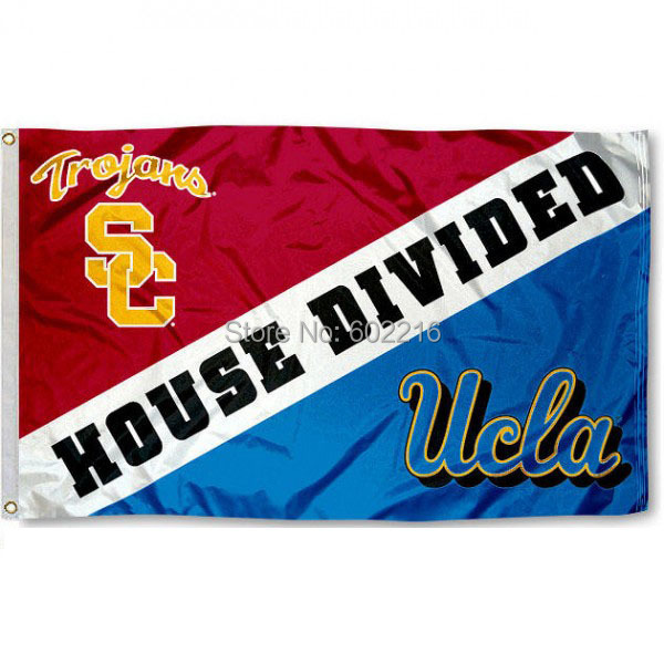 NCAA UCLA Vs USC House Divided College Flag 3X5 In Flags Banners Accessories From Home Garden On Aliexpress