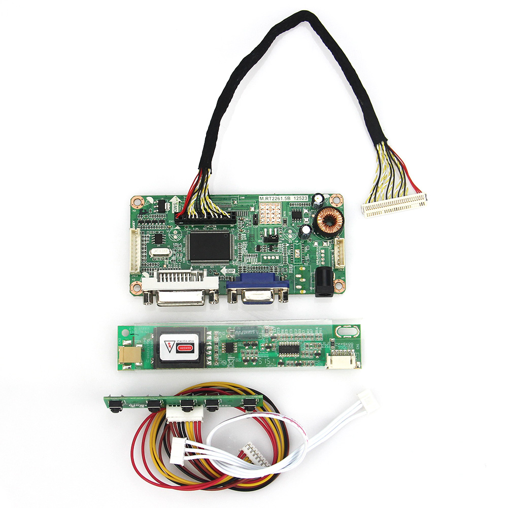 VGA+DVI M.RT2261 M.RT2281 LCD/LED Controller Driver Board For B156XW01 V.2  LTN156AT01 LVDS Monitor Reuse Laptop 1366x768