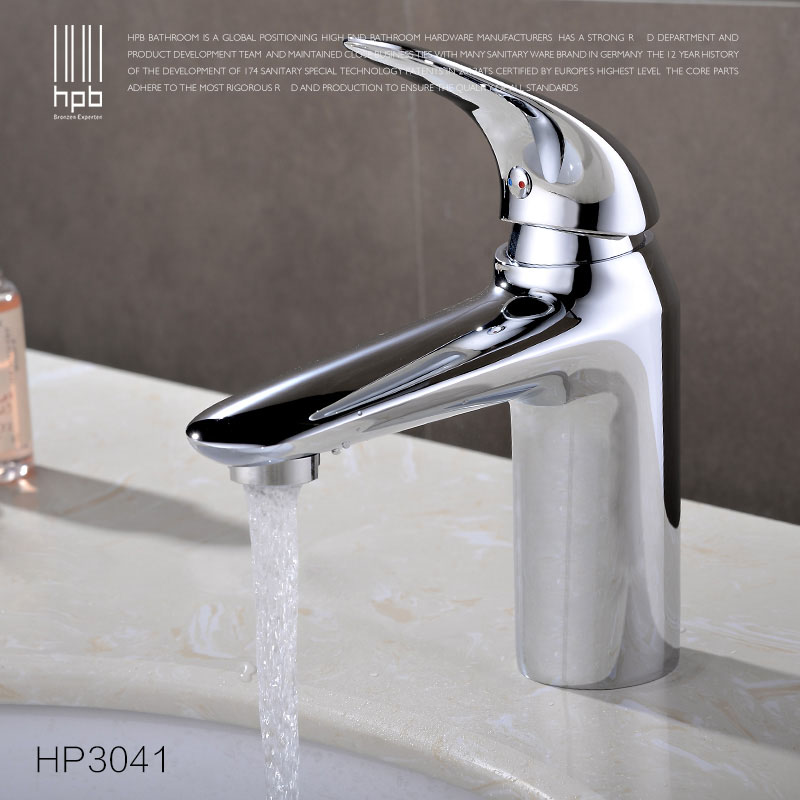 HPB Free Shipping Brass Hot and Cold Water Tap Deck mounted Bathroom Basin Faucet Wash Tap Mixer grifos para lavabos HP3041