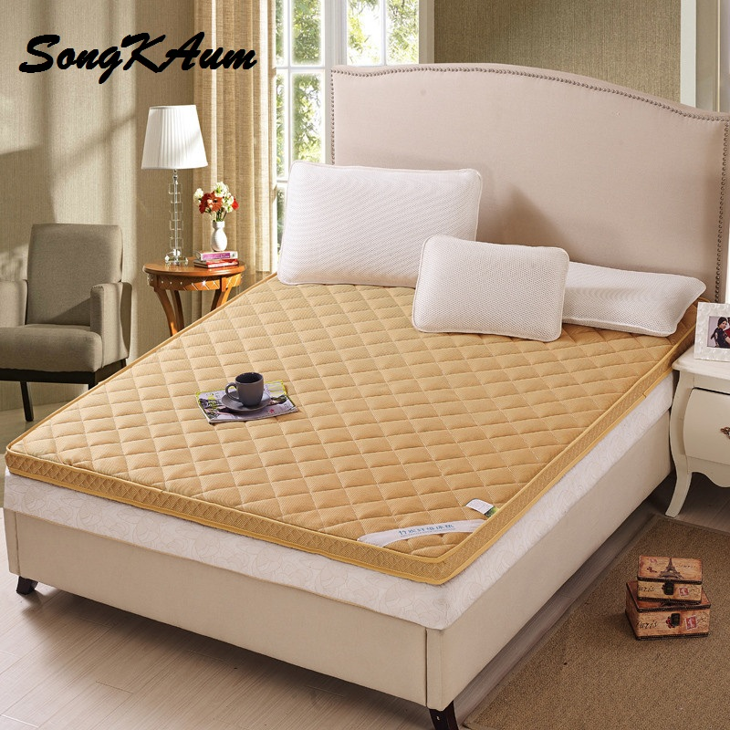 все цены на Bamboo Fiber Thick Warm Foldable Single Or Double Mattress Fashion NEW Topper Quilted Bed