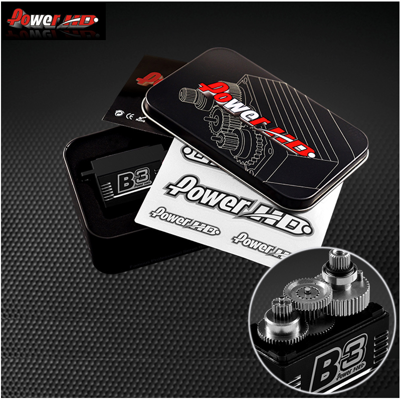 1 sztuk oryginalny Power HD B3 30 kg 7.4 V bezszczotkowy serwomechanizm cyfrowy z metalowymi zębatkami i podwójne łożyska w Części i akcesoria od Zabawki i hobby na  Grupa 1