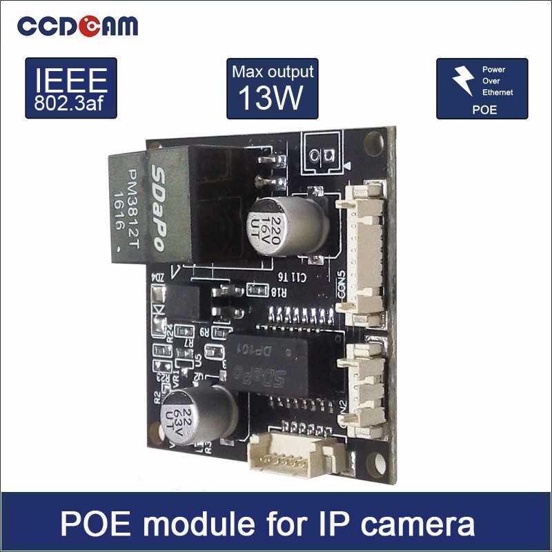 PoEboard  Module pcb for Security CCTV Network IP Cameras Power Over Ethernet 12V 1A output IEEE802.3af 10pcs cctv ip network camera pcb module video power cable 60cm long rj45 female
