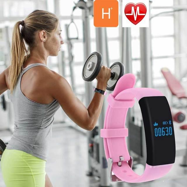 2017 Novas botas de borracha esporte monitor de calorias passo pedômetro pulseira inteligente pulseira inteligente app rastreamento saúde rosa D21