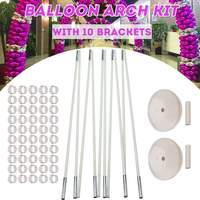 Balloon Column Stand Kits Arch Stand with 10 Brackets 2 Bases 50 Buckles for Wedding Birthday Festivals Party Decoration