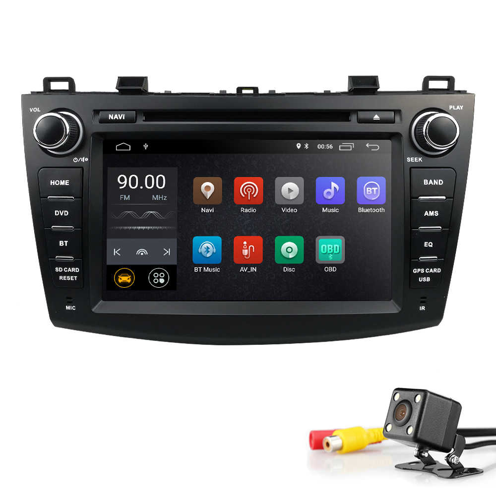 "IPS 8"" 2 din car dvd radio stereo Android 8.1 GPS for mazda 3 mazda3 2010-2013 Wifi Bluetooth multimedia tape recorder navi DAB+"