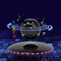 T Gtexnik Wireless Magnetic Levitation Speakers Bluetooth Subwoofer Speaker With Touch Sensitive Buttons And Led Light