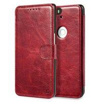 Luxury PU Leather Case For Huawei Nexus 6P Wallet Card Slots Holder Stand Display Vintage Flip