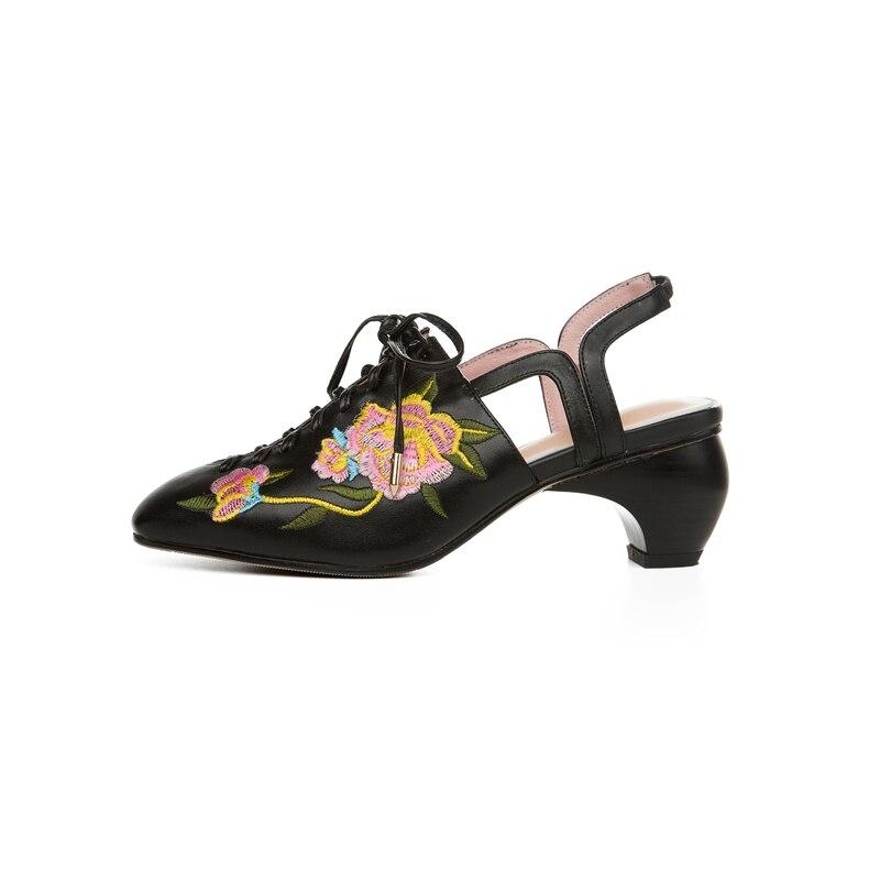 Womens Shoes Pumps Luxury Shoes Women Designers Zapatos De Mujer De Moda 2019 De Vestir Genuine Leather Square Toe Lace Up Shoes in Women 39 s Pumps from Shoes