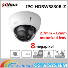 Dahua CCTV Netzwerk Eco versierte 3,0 Serie IPC-HDBW5830R-Z 8MP IR motorisierte objektiv Dome Kamera IP67, IK10, PoE Kostenloser