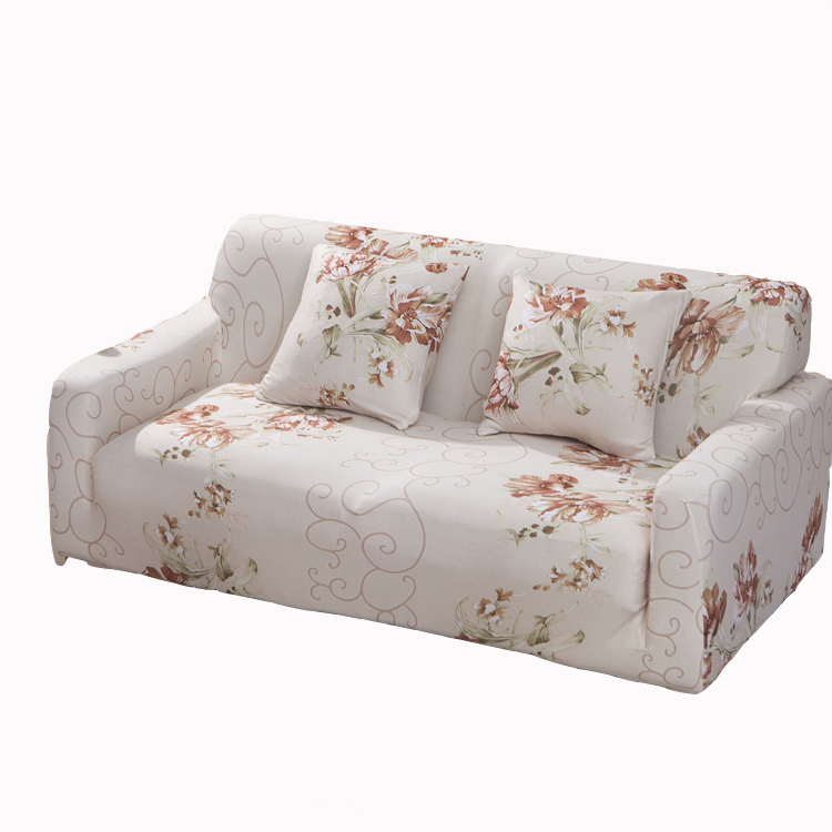 Floral cover for sofa sectional soft couch covers L shaped sofa cover elastic universal entire sofa