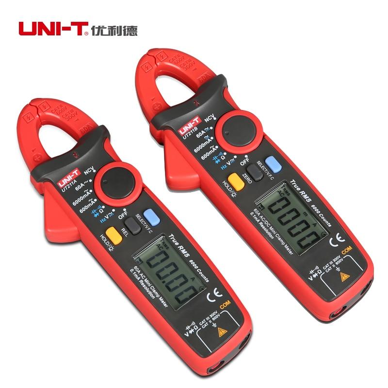Uni-t UT211A RMS verdadeiro grampo metros de Auto V.F.C. NCV Capapictance Tester w / modo relativo alta  Amperimertro uni t ut323 termometro digital sensor de temperatura tester com alta baixa de alarme e a auto