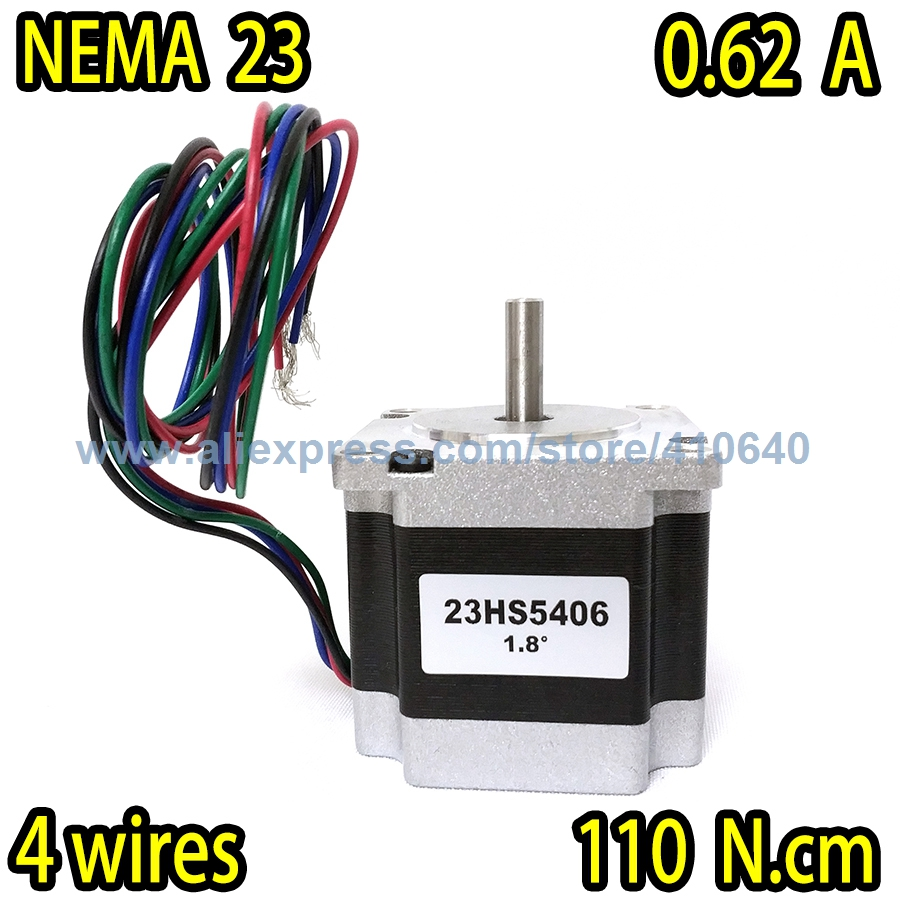 In Stock! Free shipping step <font><b>motor</b></font> 23HS5406 0.62 A <font><b>110</b></font> N.cm with 4 lead wires and step angle 1.8 degree Super Sales! image