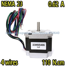 In Stock! Free shpping step motor 23HS5406 0.62 A  110 N.cm with 4 lead wires and  step angle 1.8 degree недорого