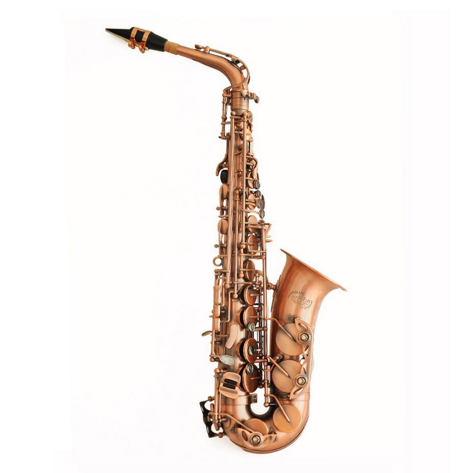 Nouveau 2016 Saxophone Alto Eb Sax E Plat Antique Copper Simulation Professionnel Musical En Laiton Instruments NAS-630B