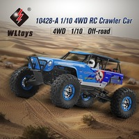 rc car Wltoys 10428 A 1/10 2.4G 4WD Electric Rock Climbing Crawler RC car Desert Off Road Buggy Brushed Vehicle RTR