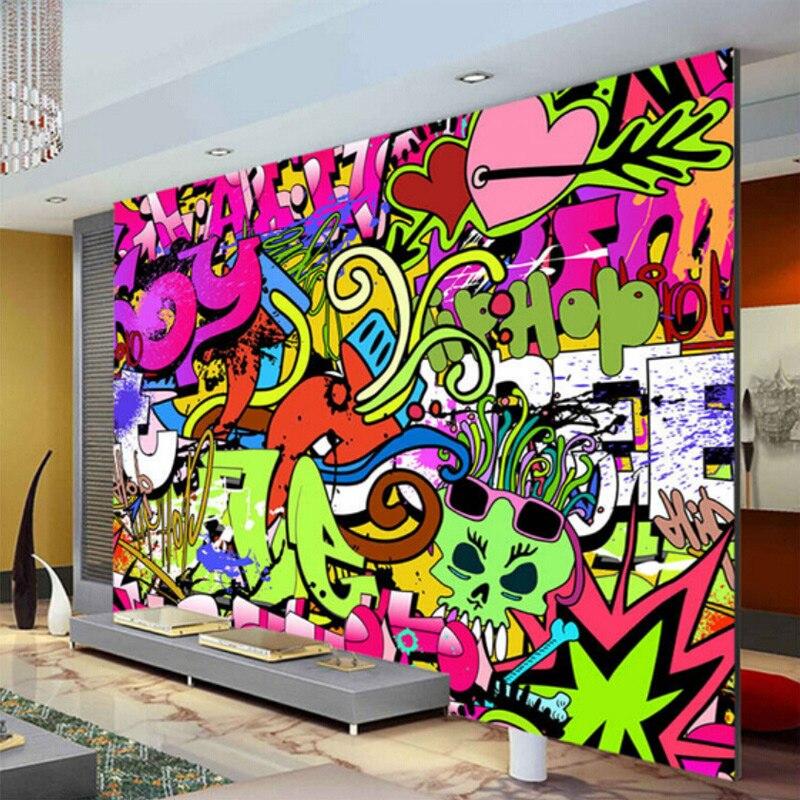 Aliexpress Buy Graffiti Boys Urban Art Photo Wallpaper Custom