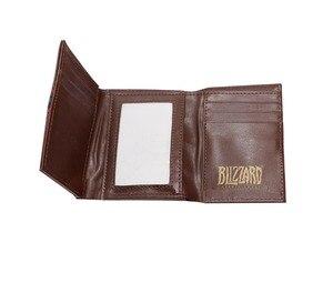 Image 3 - Hearstone carteira com três dobras, carteira curta em couro com gravura em heróis de warcraft hearstone