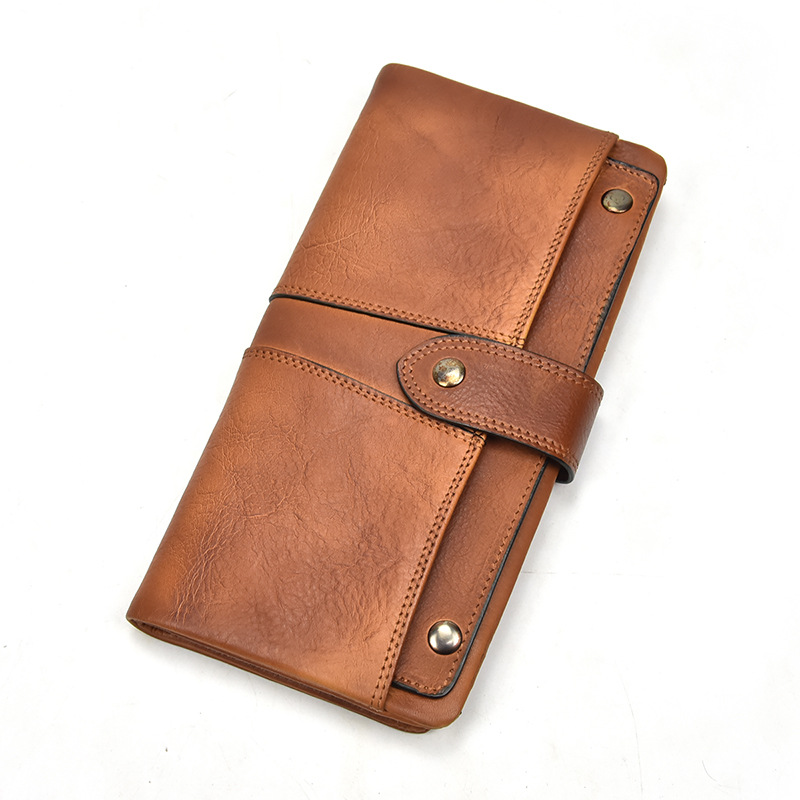 Vegetable Leather Business Long Wallet Multi-functional Real Leather Clutch Bag Credit Card Bag Mobile Phone CaseVegetable Leather Business Long Wallet Multi-functional Real Leather Clutch Bag Credit Card Bag Mobile Phone Case