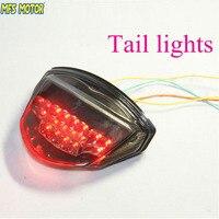 Motorcycle LED Tail Brake Turn Signal Light Lamp Round Reflector Motorbike LED Light for Suzuki GSX R GSXR 1000 2007 2008 Smoke