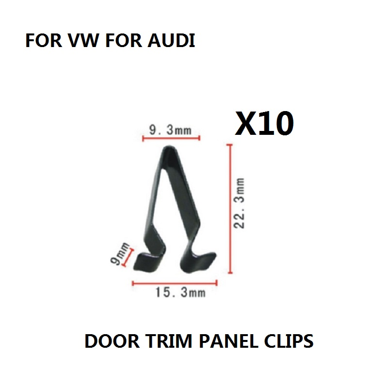 x10 Pieces FOR VW FOR AUDI BOOT TAILGATE TRIM PANEL LINING UPHOLSTERY METAL SPRING CLIPS INTERIOR NEW