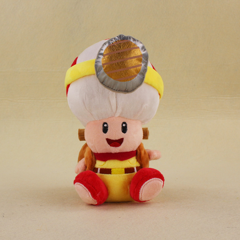 19cm Super Mario Bros Mushroom Toad Plush Toys Captain Toad Soft Stuffed Figures Toys Kids Xmas