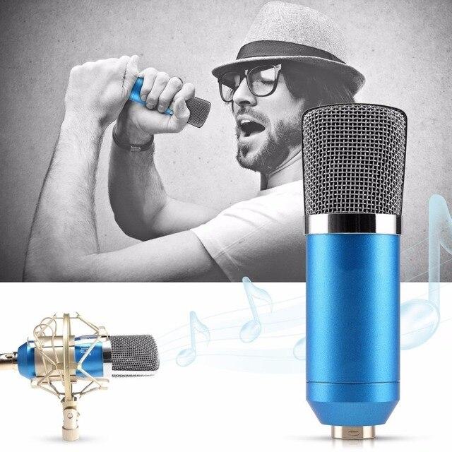 Professional Studio Condenser KTV Microphone Cardioid Pro Audio Studio Vocal Recording Mic KTV Karaoke+ Metal Shock Mount