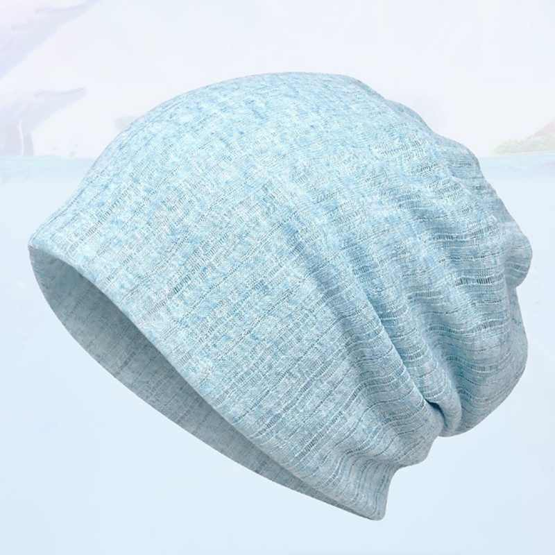 Beanies Running Cap Thin Section Cotton Polyester Spandex Outdoor Sport Breathable Stretch Summer Sun Hat Golf Beach Camping