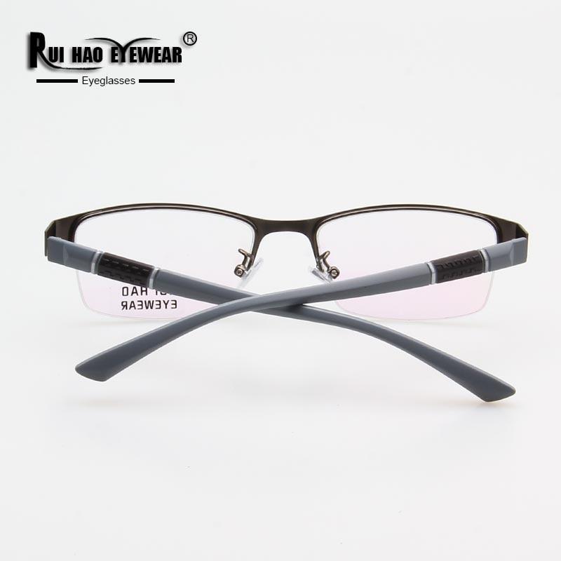 Image 4 - Prescription Eyeglasses Men Glasses Frame Rectangle Design Optical Glasses Myopia Progressive Resin Lenses Spectacles 961-in Men's Prescription Glasses from Apparel Accessories